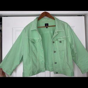 Gap Green Jean jacket